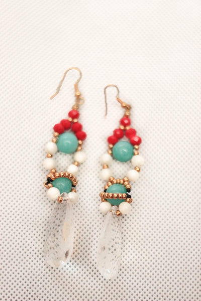 Ore Turquoise Crystal Earrings - Graced London - 2