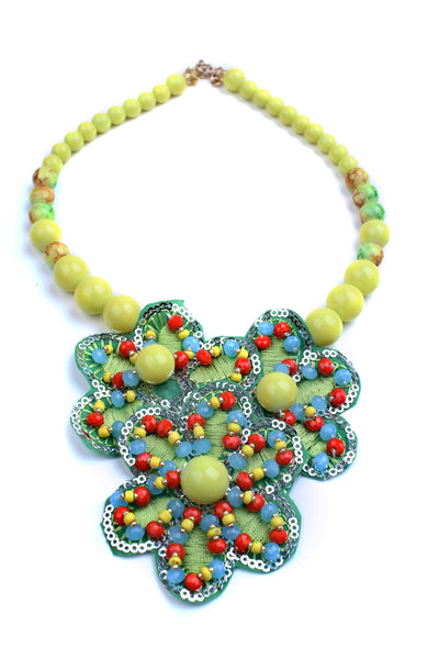 Laced Green Necklace - Graced London - 1
