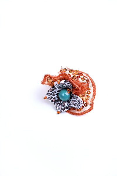 Orange Lace Ring - Graced London - 2