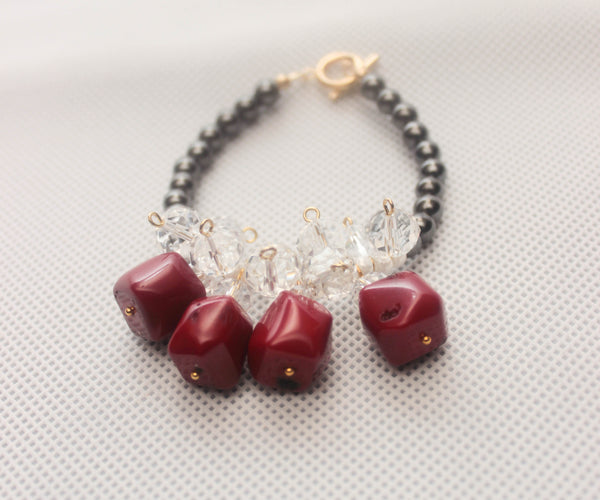 Hematite Red Bracelet - Graced London - 1