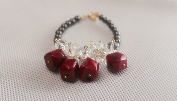 Hematite Red Bracelet - Graced London - 2
