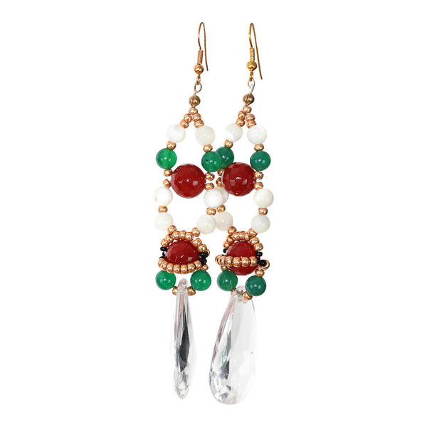 Ore Wine Crystal Earring - Graced London