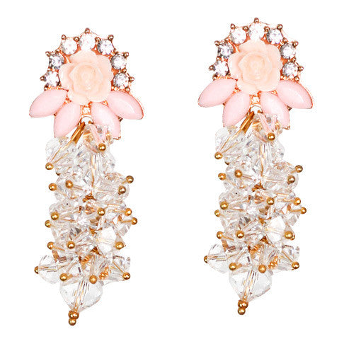 Peach crystal Earring - Graced London - 1