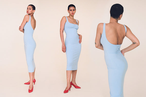 Corazon Midi Dress - Baby Blue
