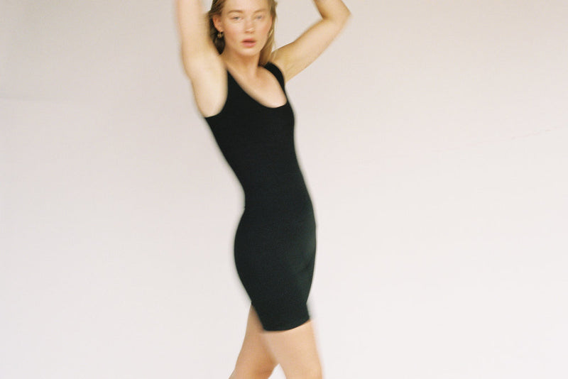 Via Olympia Short Unitard - Black