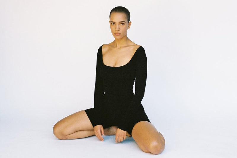El Tigre Long Sleeve Bodysuit - Black