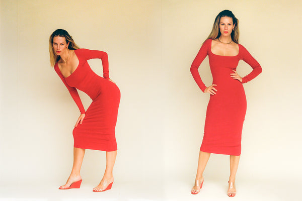 El Tigre Midi Dress - Tomate