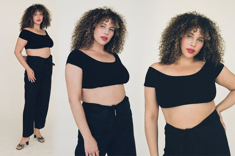 Salinas Crop Top - Black