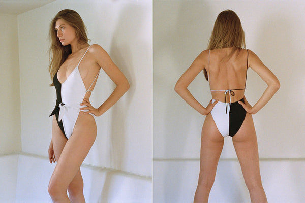 Caracas One-Piece Swimsuit - Black/White