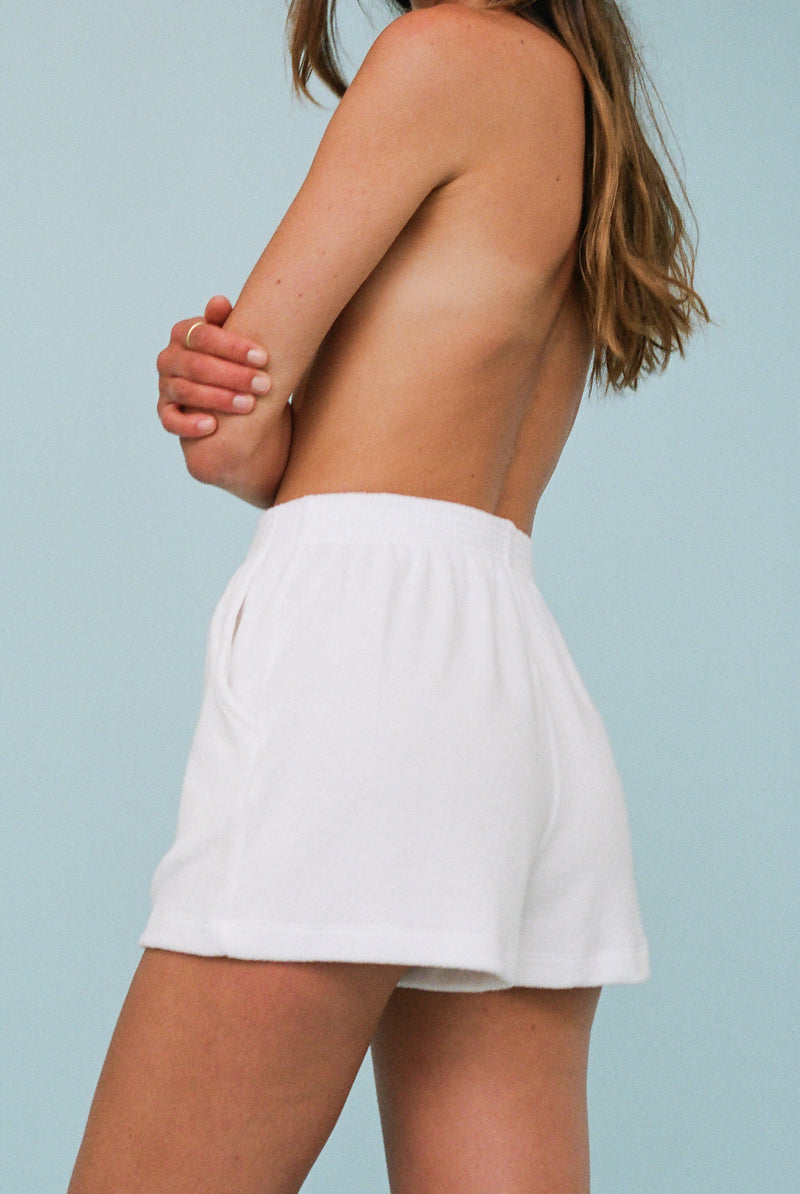 Terry Port Short - White