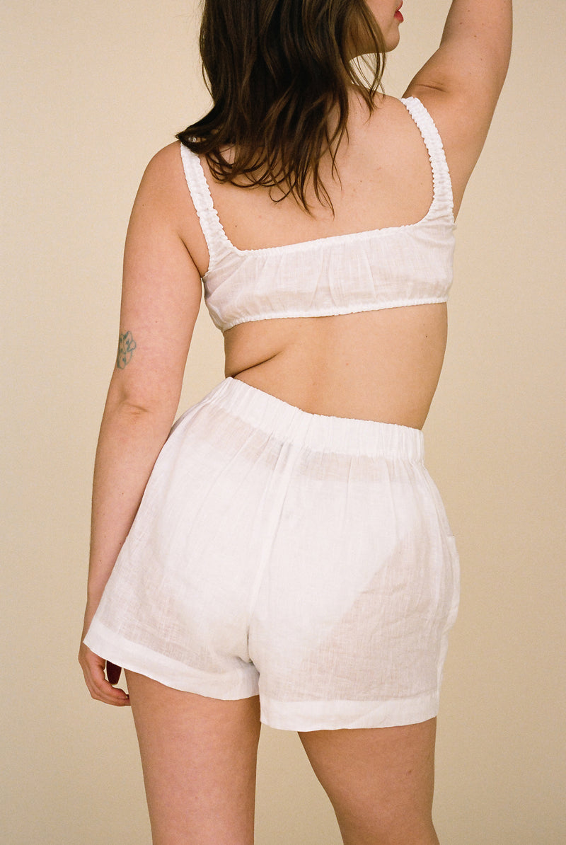 Blair Linen Pocket Short - Bleached
