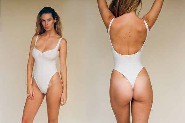 Corazon Bodysuit - Ash Grey