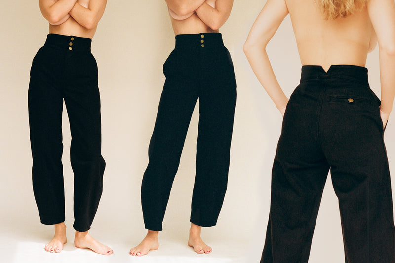 Marseille High Waist Jean - Black