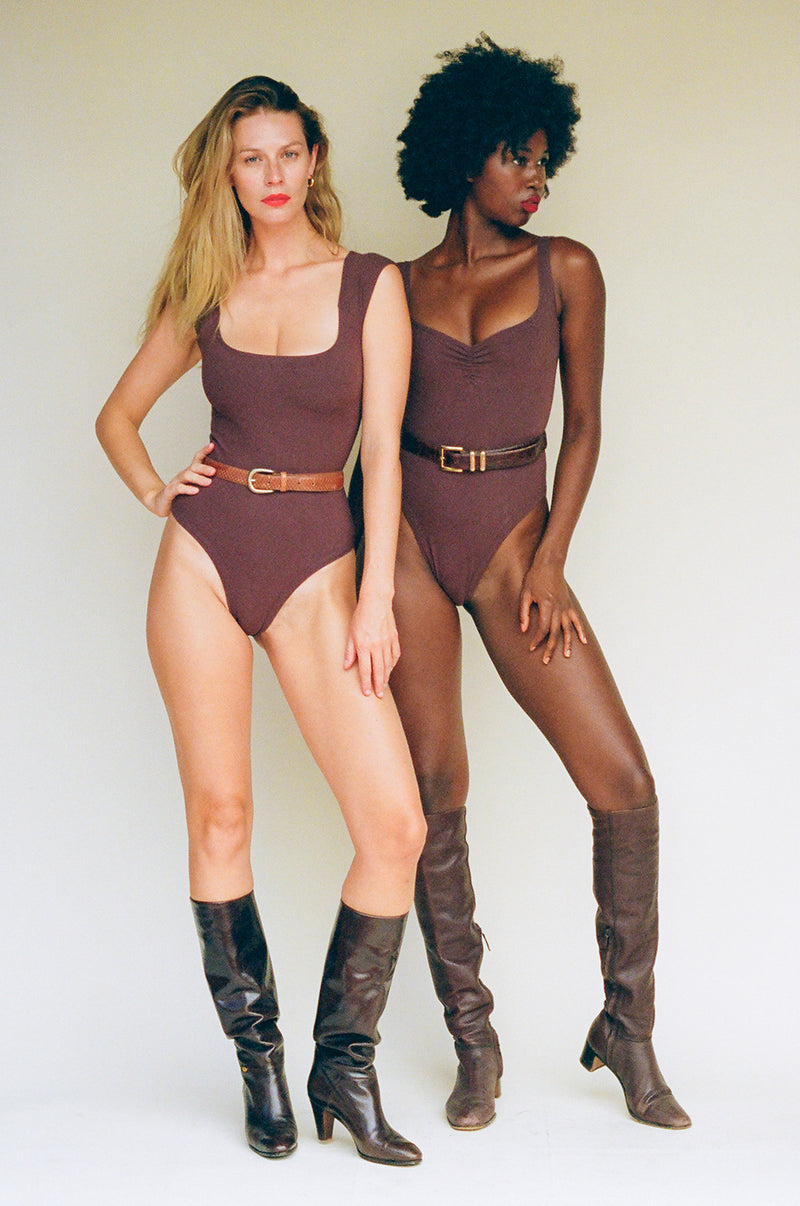 Corazon Bodysuit - Chocolate