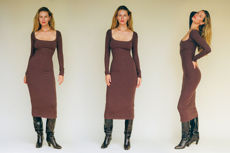 El Tigre Midi Dress - Chocolate