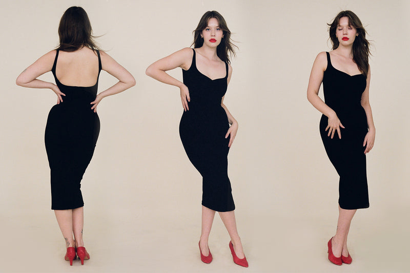 Corazon Midi Dress - Black