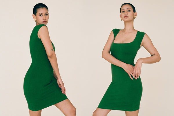 El Tigre Mini Dress - Emerald