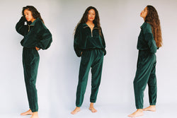 Velour Beachwood Sweatpant - Pine