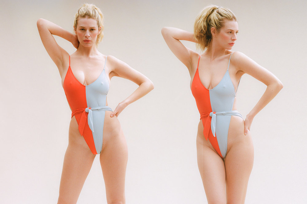 Caracas One-Piece Swimsuit - Tango/Powder Blue