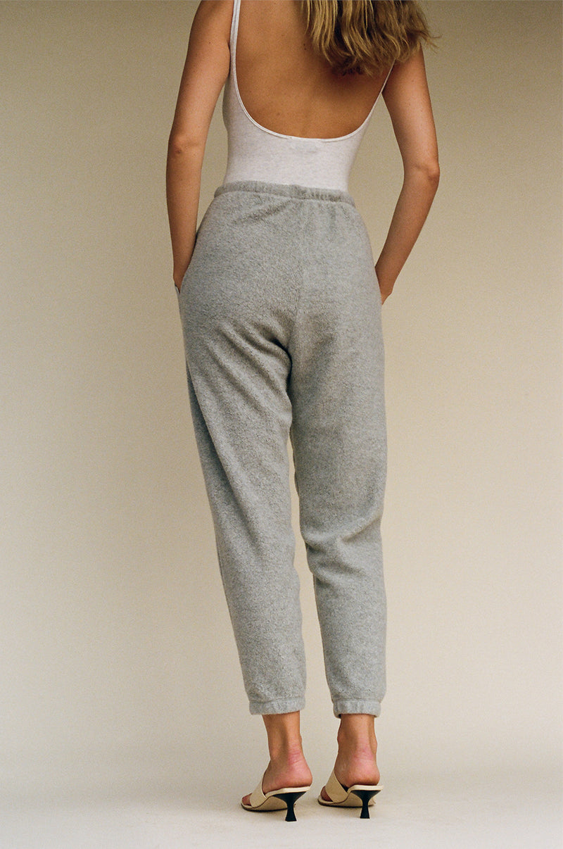 Beachwood Sherpa Fleece Sweatpant - Heather Grey