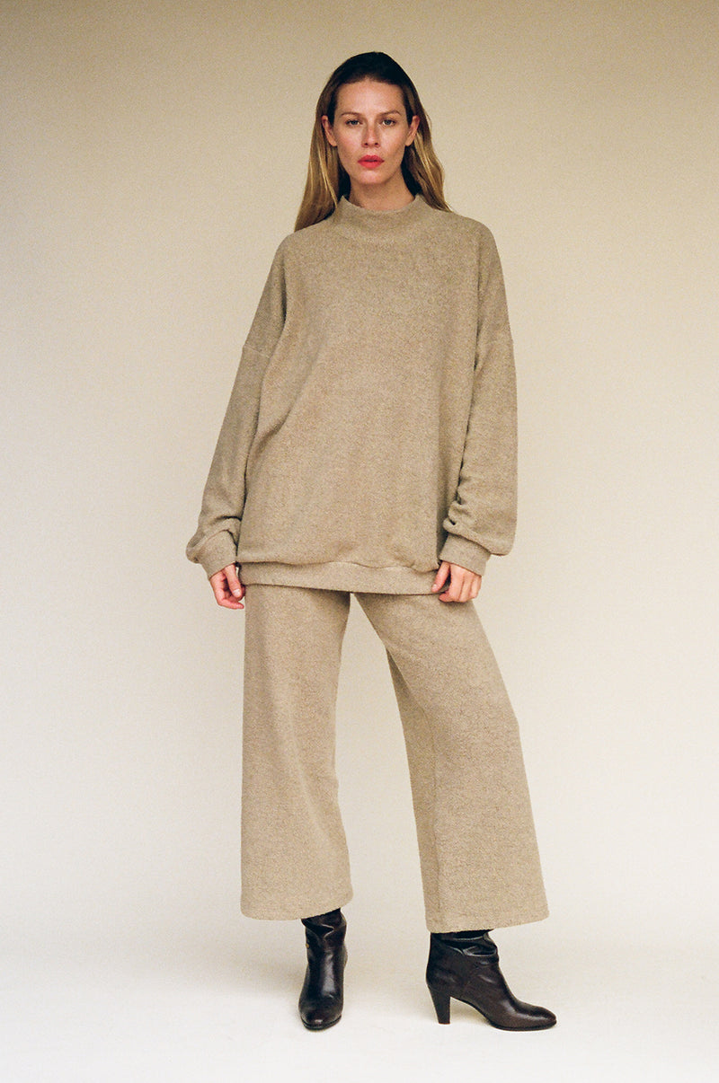 Rey Sherpa Fleece Pant - Heather Toffee