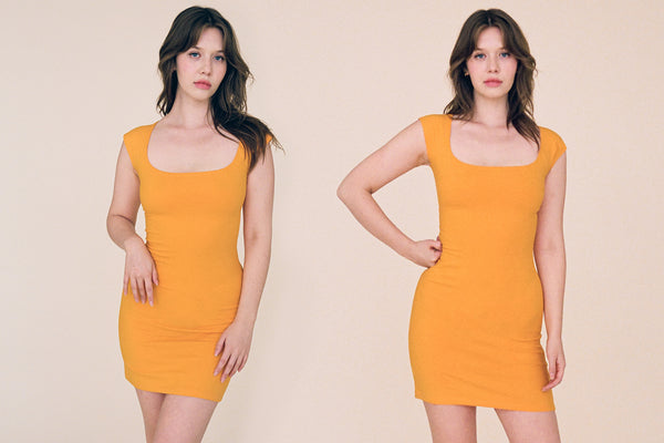 El Tigre Mini Dress - Tangerine