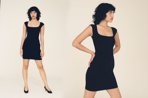 El Tigre Mini Dress - Black