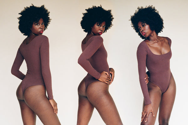 El Tigre Long Sleeve Bodysuit - Chocolate