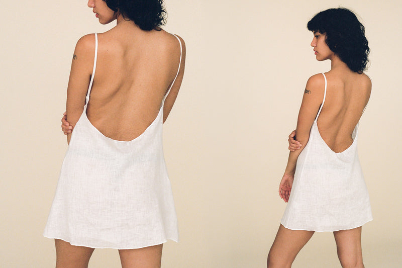 Montecito Linen Dress - Bleached