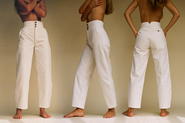 Marseille High Waist Jean - Cream