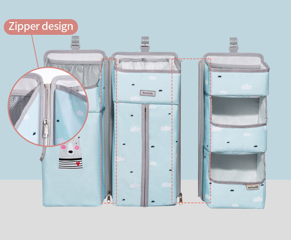 baby storage organizer, diaper storage, baby bottle sorage, child room, sunveno, sunve