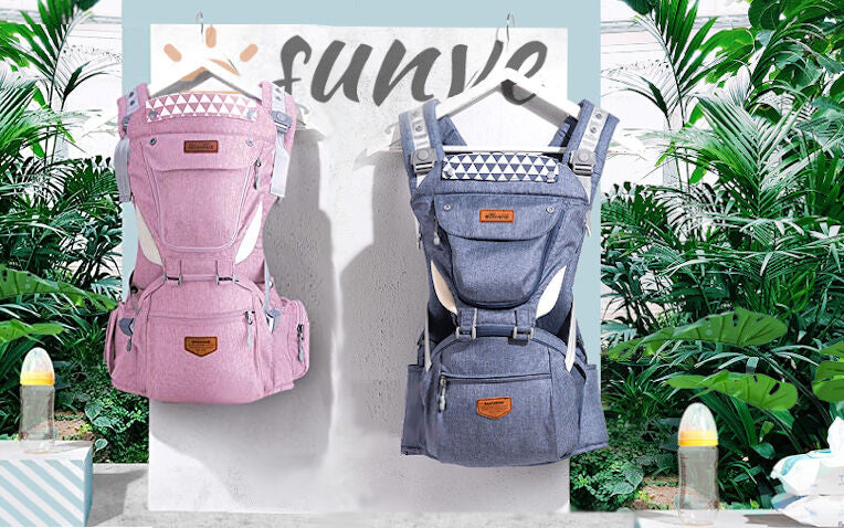 sunve, sunve baby carrier, baby carrier, toddler carrier, ergonomic carrier with pockets, diaper bag, carrying baby, daddy carrier