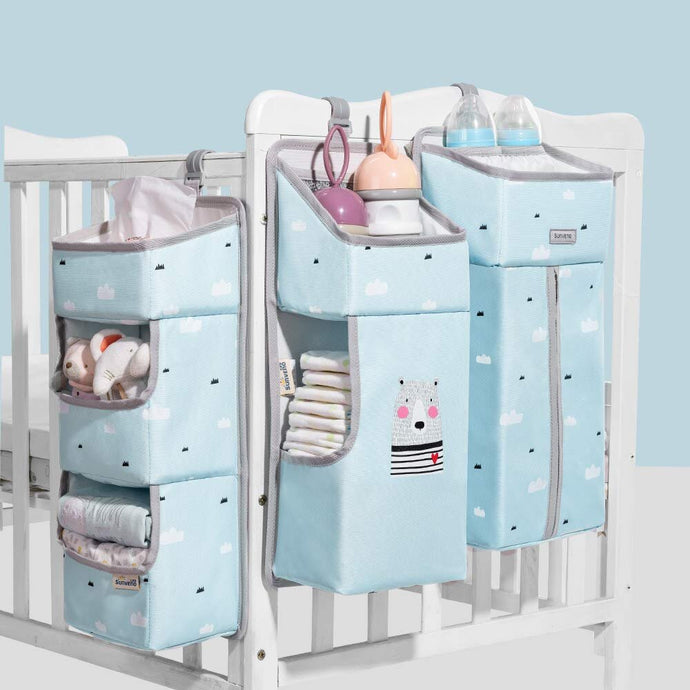 sunve, nursery organizer, baby sorage organizer, Hanging Diaper Organization Storage for Baby Essentials hang on crib