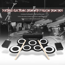 Load image into Gallery viewer, PORTABLE ELECTRIC DIGITAL DRUM - PLAY ANY TIME, ANY WHERE!