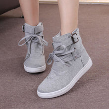 Load image into Gallery viewer, Women Boots Casual Canvas Shoes