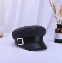 Load image into Gallery viewer, Women Black Military Hats