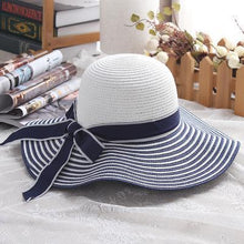 Load image into Gallery viewer, Beautiful Women Straw Beach Hat