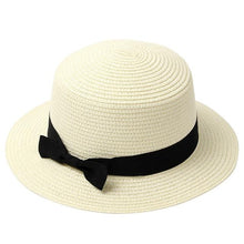 Load image into Gallery viewer, Women Summer Beach Straw Hat