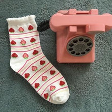 Load image into Gallery viewer, Strawberry Cotton Female Socks