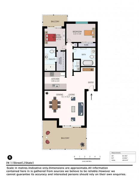2D Color w/Furniture Floor Plans (Type 2)