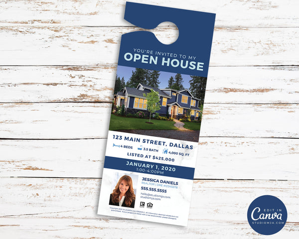 Real Estate Door Hanger | Open House