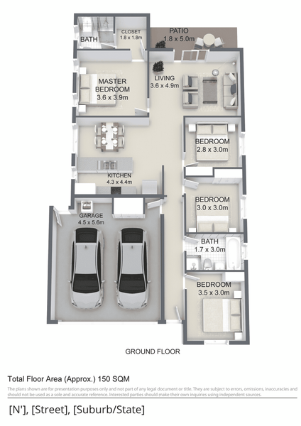 3D Neutral Floor Plans (Type 2)