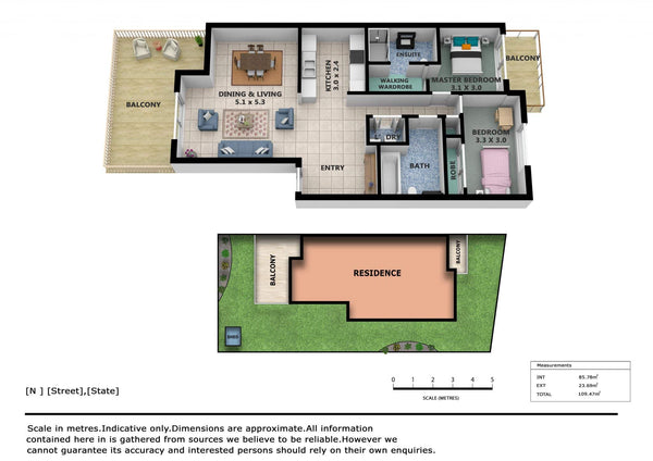 3D Color Floor Plans (Type 1)