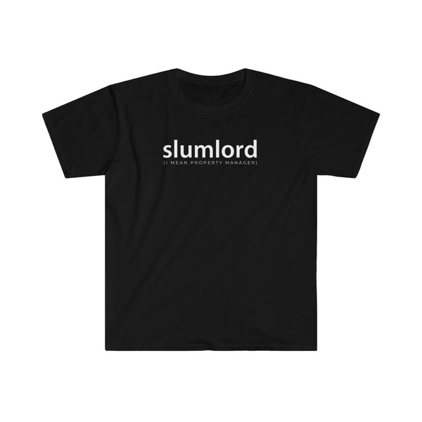 Property Manager T-shirt Slumlord I Mean Property Manager | Men's Fitted Short Sleeve Tee