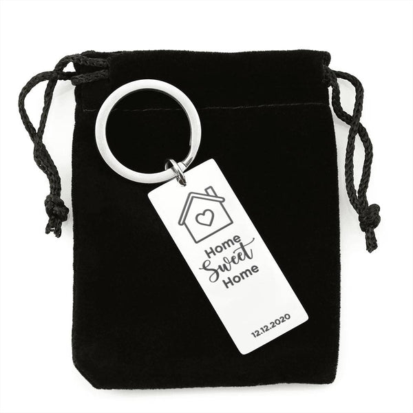 Home Sweet Home Personalized Keychain