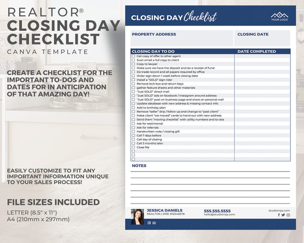 Closing Day Checklist Template