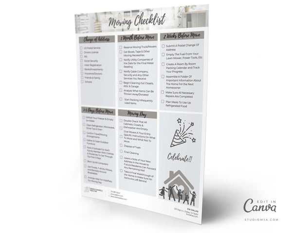 Moving Checklist | Real Estate Template