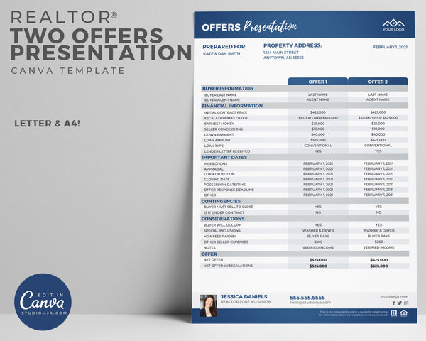 Two Offers Presentation | Real Estate Template