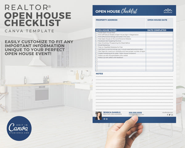 Open House Checklist Template