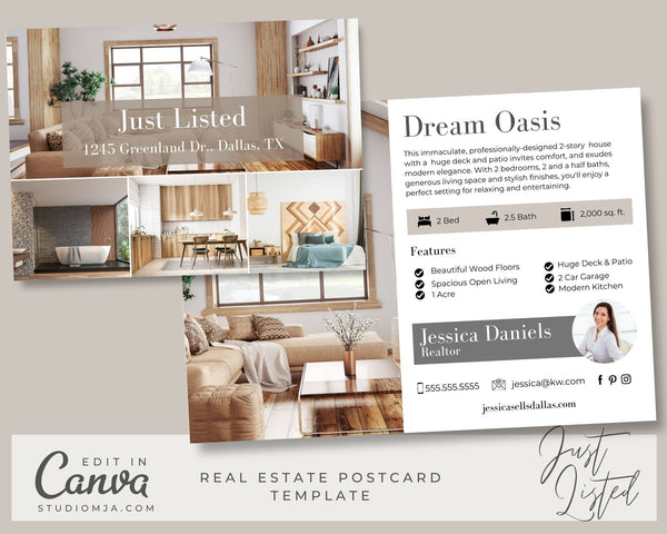 The Woodburn | Real Estate Postcard Template
